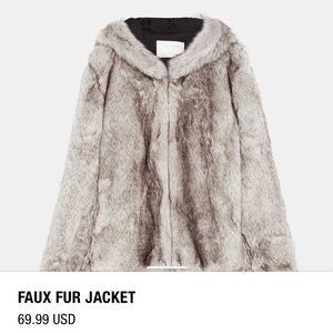 2018 Zara faux fur jacket
